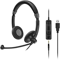 Sennheiser Enterprise Solution 615104277410 SC 75 USB CTRL VOIP Telephone Headset