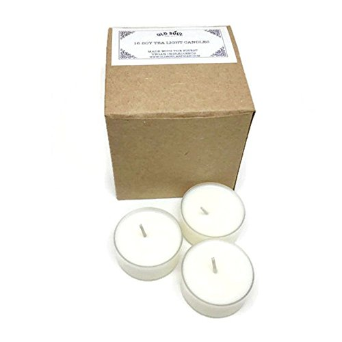 Egyptian Amber Scented Vegan Soy Tea Light Candles - 16 Box Set - Old Altar