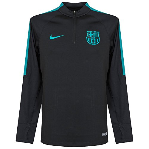 Nike Men's Barcelona Squad Drill Top Soccer 1/4 Zip Jacket (Small) Black, Energy