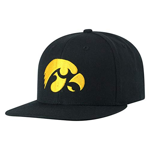 - Top of the World Iowa Hawkeyes Men's Flat Brim Hat Icon, Black, One Fit