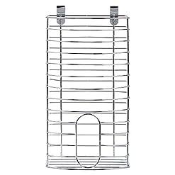 Cabinet Door Organizers Luciano Housewares 7.5 x 15 inches Over-the-Cabinet Bag Dispenser, Silver cabinet door organizers