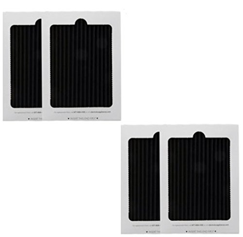 4 Replacement Frigidaire Worthy Air Ultra Refrigerator Air Filters, Also Fits Electrolux, Compare to Part # EAFCBF PAULTRA 242061001 241754001,