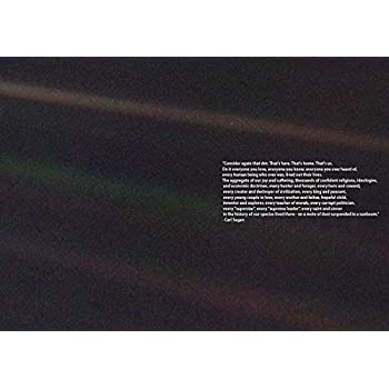 Amazon Com Nasa Voyager 1 Earth Pale Blue Dot Print