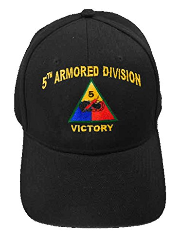 U.S. Army Division and Brigade Baseball Caps Quality Embroidered Hats (5th Armored Division Victory) (5th Armored Division Battle Of The Bulge)