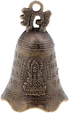 FLAMEER Chinesische Metallglocke Charme Deko Glocke Für Gartenverzierungen, Weihnachtsbaum - Bronze 1