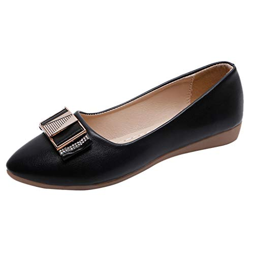 Sherostore ♡ Women Shoes Pointed Toe Women Flats Woman Flat Shoes Ballet Flats Ladies Slip On Flats Dress Shoes Black