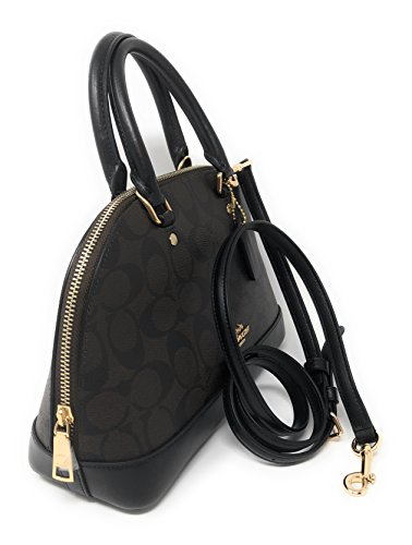 Coach Satchel Im Black Women��s Brown Mini Shoulder Shoulder Purse Handbag Inclined Sierra rr76qxp