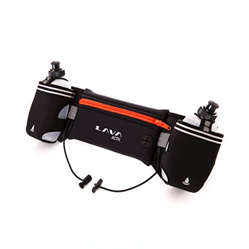 Lava Activ Adjustable Running Hydration Belt + 2x 300ml Water Bottles ideal...