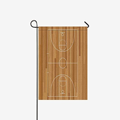 Sports Decor Funny Basketball Court Floor with Line On Wood