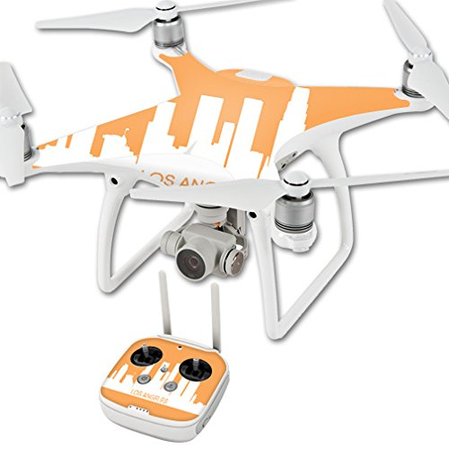MightySkins Skin for DJI Phantom 4 Quadcopter Drone – Los Angeles | Protective, Durable, and Unique Vinyl Decal wrap Cover | Easy to Apply, Remove, and Change Styles | Made in The USA For Sale