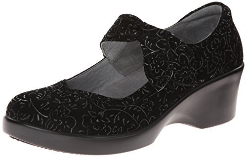Alegria Women's Ella 2 Black Sprigs Wedge Black Sprigs