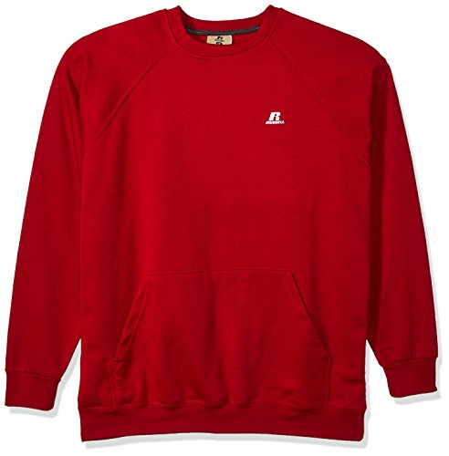 Russell Athletic Men's Big and Tall Fleece Pull Over With Pouch Pkt With LC r, Red, (Big Tall Activewear)