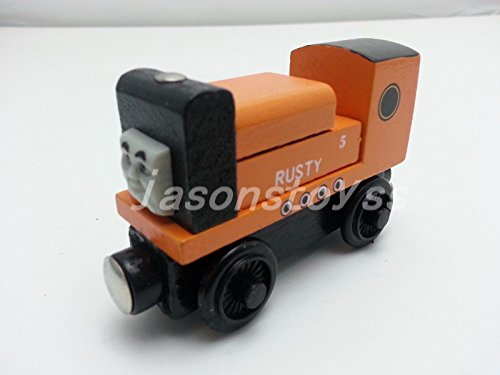 gg Friends No.5 Rusty Magnetic Wooden Toy Train Loose New In Stock
