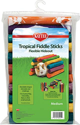 Tropical Fiddle Stick - Super Pet Tropical Fiddle Sticks Flexible Wooden Hideout Bendable Shapes Medium