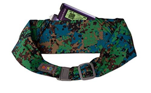 Kids Urban Camo (BANDI Unisex Secure Pocket Belt Storage with Adjustable Straps for Small Medical Devices or Snacks, Kid's Size (Urban Earth Camo))