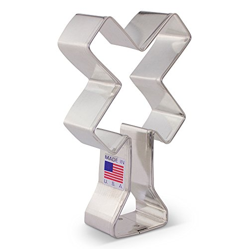 Train/Railroad Crossing Sign Cookie Cutter - Ann Clark - 4.25 Inch - US Tin Plated Steel