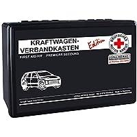 LEINA-WERKE REF 82090 LEINA - Botiquín de primeros auxilios para coche, edición DRK, DIN 13164, color negro