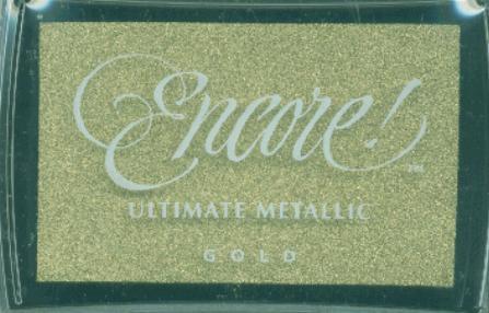 Encore Ultimate Metallic Inkpad-Gold 1 pcs sku# 630308MA