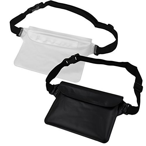 NKTM Waterproof Pouch Dry Bag Fanny Pack with Waist Strap Keep Your Cellphone Cash Safe and Dry Perfect for Boating Swimming Snorkeling Kayaking Beach