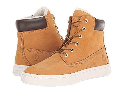 (Timberland Womens Londyn Warm Lined 6 Inch Combat Boot, Wheat Nubuck, Size 8.5)