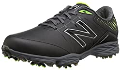 New Balance Men's Nbg2004 Golf Shoe, Blackgreen, 10.5 D Us