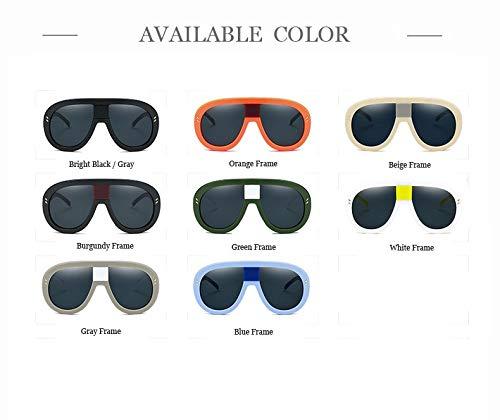 para Color tamaño Vizink Sol burgundy leg de Gran Grandes Bright Gafas Caramelo Marco Mujer Sol UV400 Naranja de Blanco Hombres Macho para Color Gafas Black Unisex Steampunk xvrwXfTv