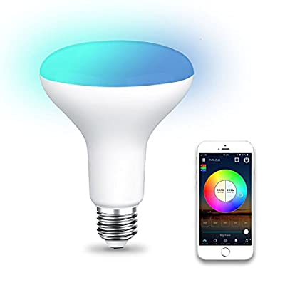 SODIAL WiFi BR30 LED Flood Light Bulb, Tunable White & Color Changing Smart Flood Light Bulb, Compatible with Alexa & Google Home Assistant