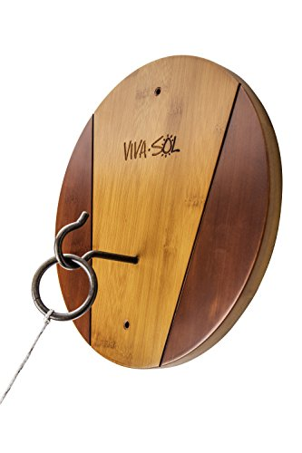 -Wood Walnut Finish Hook and Ring Target Game for Use Indoors and Outdoors ()