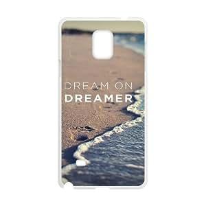 Dream on dreamer Custom Case for Samsung Galaxy Note 4, Personalized Dream on dreamer Case