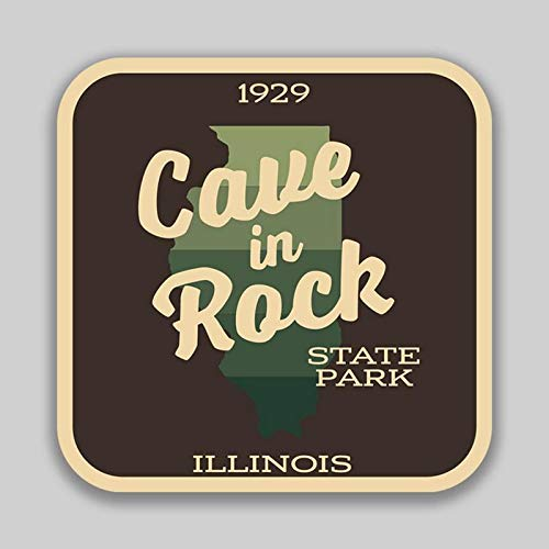 Cave in Rock State Park Illinois Decal Sticker | 4-Inches by 4-Inches | 5-Pack Premium Quality Vinyl Sticker | UV Protective Laminate | SP982