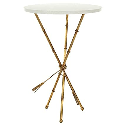 Amazing Safavieh Ross Accent Table, White/Gold