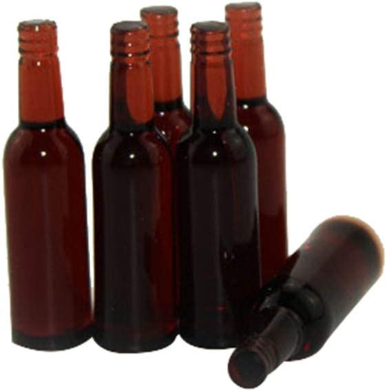 Aliturtle Miniature Decor Replacement Supplies for Dollhouse Accessories & Furniture - Mini 1:12 Scale Exquisite 6Piece/Pack Beer Bottles Doll House Accessory Best Birthday Gift Toys for Children