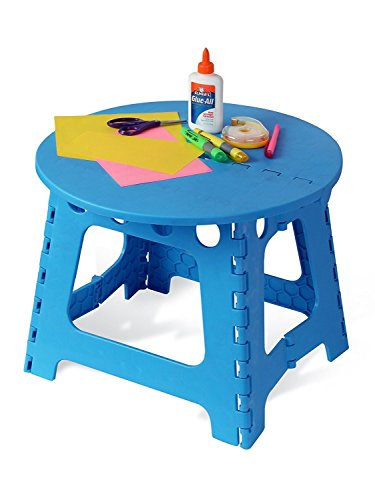 Indoor Multi-Function Accent Table Study Computer Home Office Desk Bedroom Living Room Modern Style End Table Sofa Side Table Coffee Table Children'S Round Plastic Folding Table by DASII