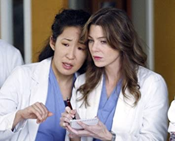 ELLEN POMPEO AS DR. MEREDITH GREY, SANDRA OH AS DR. CRISTINA YANG FROM