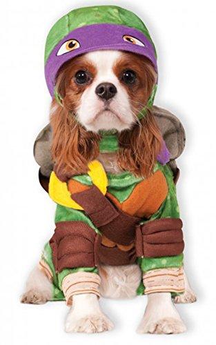 [Rubies Costume Company Teenage Mutant Ninja Turtles Donatello Pet Costume, Large] (Cat Halloween Costumes For Teenage)