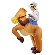Inflatable Horse Riding Cowboy Adult Fancy Dress Costume Hen Stag Night Outfit