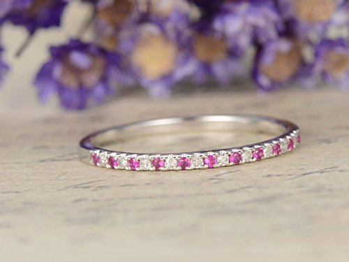 vvs-natural-ruby-wedding-bandsolid-14k-white-gold-engagement-ringanniversary-stacking-bandhalf-etern