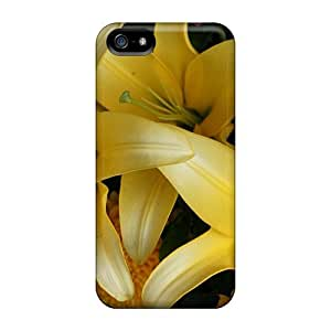 High Impact Dirt/shock Proof Case Cover For Iphone 5/5s (stargazer Lilies)