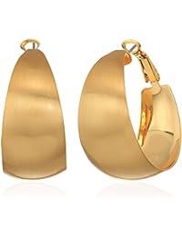 Wide Textured Gold Hoop Earrings