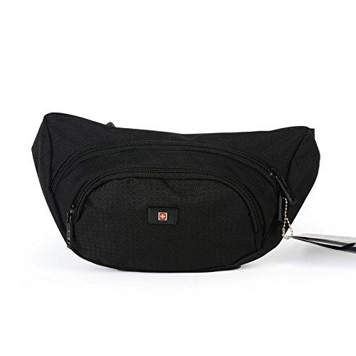ZYT Kleine Tasche wasserdicht Tasche tragen schwarze Geldbörse lässig mann Gürteltasche