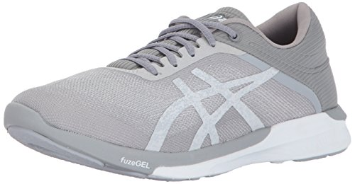 Grey Womens Rush ASICS fuzeX Silver Shoe Mid White Running FgOwvwx