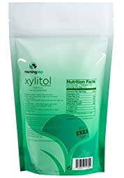 Morning Pep 1 LB 100% Pure Birch Xylitol sweetener (Not From Corn) NON GMO - KOSHER - GLUTEN FREE - PRODUCT OF USA. 1 LB