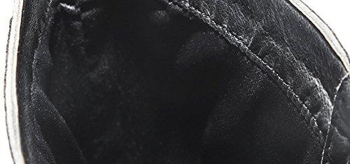 wealsex Botte Cuir Noir Lacets Boucles Botte Combat Militaire Armee Botte Rock Punk Chaussure Hiver Homme oTswRBzsD