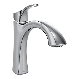 Moen Voss One-Handle High Arc Pullout Kitchen Faucet Featuring Reflex, Chrome (9125C)