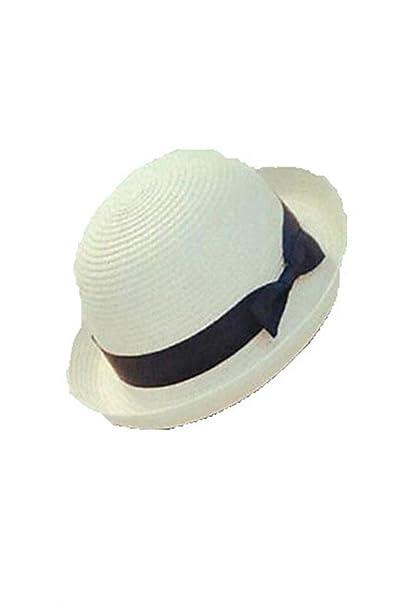 Comfot Mujer Verano Otoño Bonito Casual Poliéster Hilo Sombrero Playero Sombrero  de Paja Sombrero para el Sol 521068057056