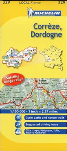 Country Map Of France.Michelin Map France Correze Dordogne 329 Michelin Local Maps
