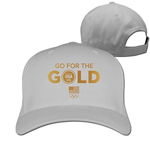 [Unisex Team USA Go For The USOC Gold Rio Olympics Peaked Hat Baseball Cap] (Brazil Costume Male)