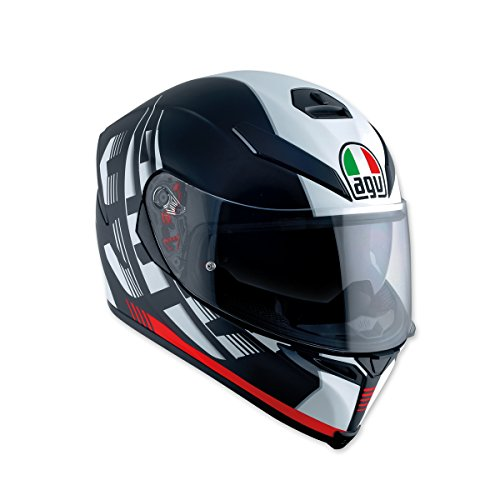 AGV K-5 S Darkstorm Black/Red Full Face Helmet, MS by AGV