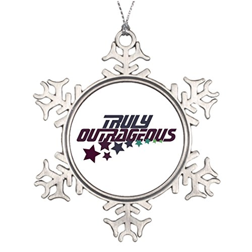 Personalised Christmas Tree Decoration Truly Outrageous Cute Christmas Snowflake Ornaments (Outrageous Halloween Decorations)