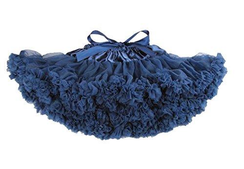 Honeystore Baby Girl's Kids Petticoat Navy Tulle Dance Party Tutu Baby Costumes Skirt X-Small (Baby Halloween Costumes Uk Cheap)